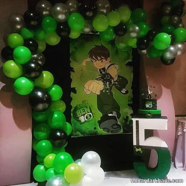 ایده های جالب تزیین جشن تولد با تم تولد بن 10