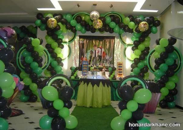 انواع تزیینات جشن تولد با تم تولد بن تن