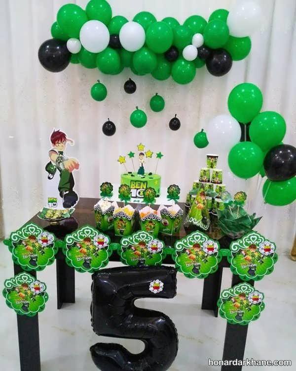 ایده های جذاب دکوراسیون جشن تولد با تم تولد بن 10