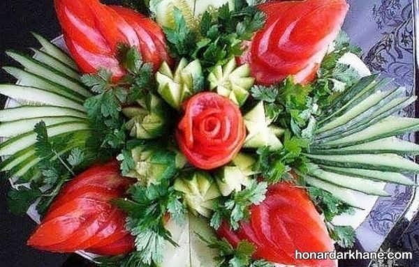 انواع دیزاین زیبا و خاص گوجه و خیار