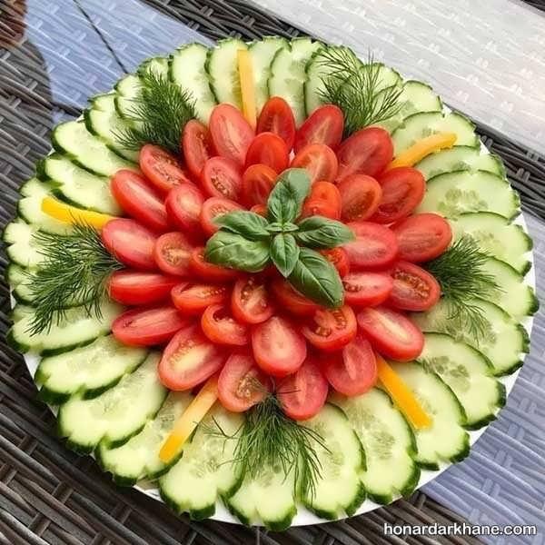 مدل های زیبا و جذاب تزیین گوجه خیار