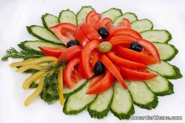 انواع تزیین گوجه خیار به سبک های مختلف