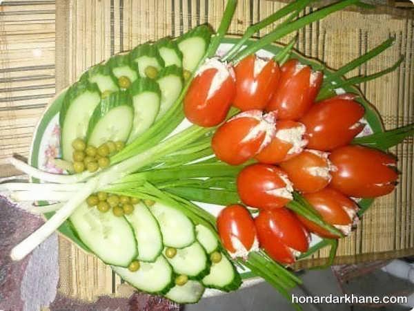 مدل های جالب و خلاقانه دیزاین گوجه خیار
