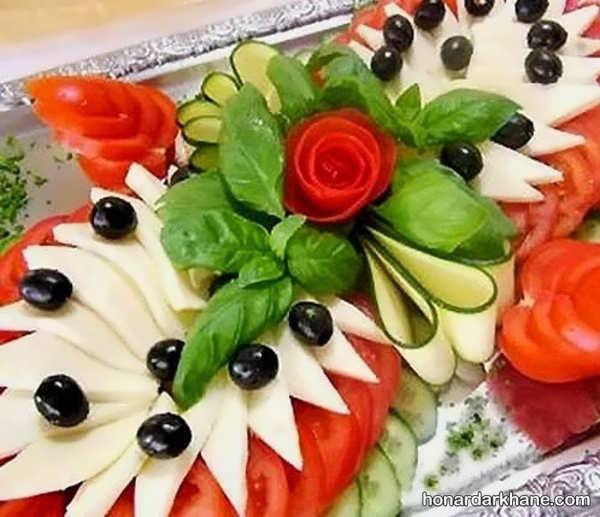 انواع دیزاین زیبا و شیک گوجه و خیار