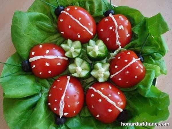 انواع تزیین گوجه خیار با ایده های جالب