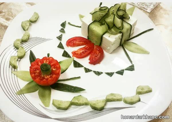 انواع تزیین گوجه خیار به روش های مختلف