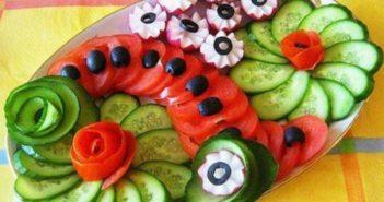 انواع مختلف تزیین گوجه خیار