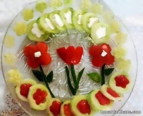 مدل های شیک و خلاقانه دیزاین گوجه و خیار