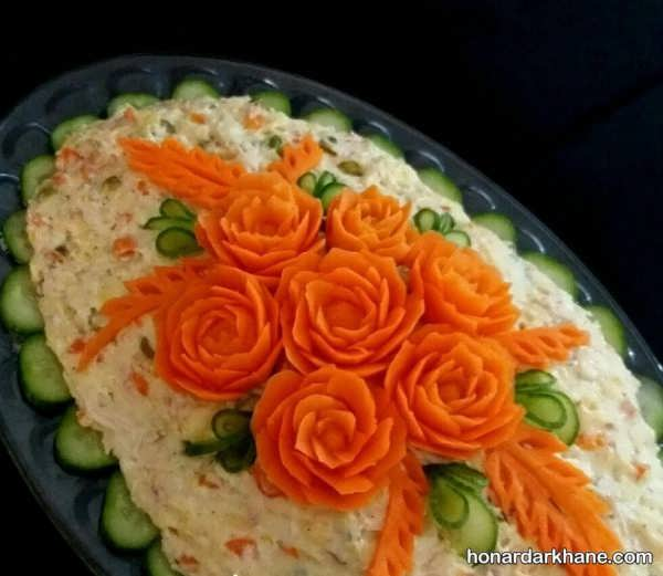 انواع دیزاین سالاد با هویج