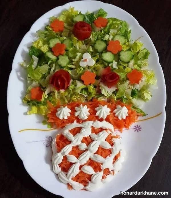 انواع تزیین جدید و شیک سالاد با هویج