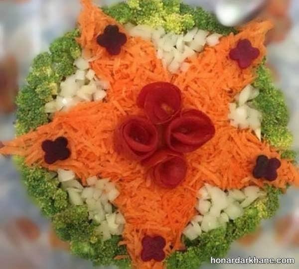 انواع تزیین جالب و زیبا سالاد فصل با هویج