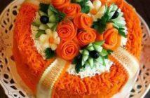 انواع تزیین سالاد با هویج با ایده های جدید و خلاقانه