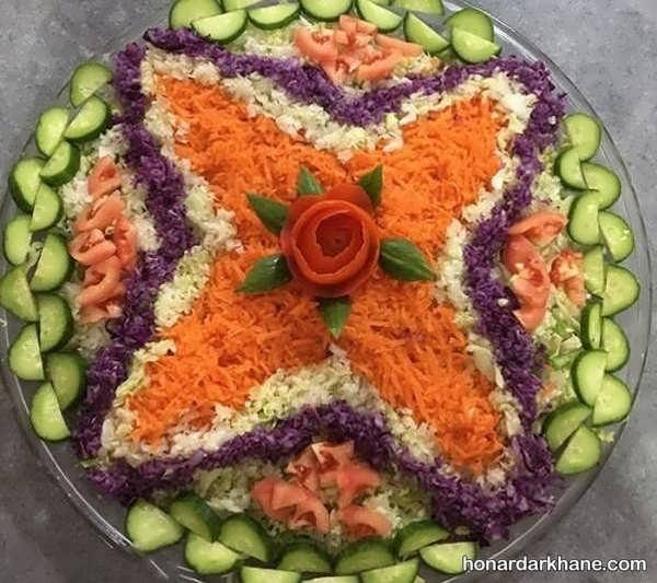 انواع دیزاین سالاد با هویج به سبک های مختلف