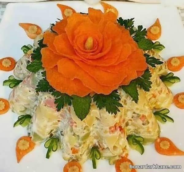 انواع دیزاین شیک سالاد با هویج