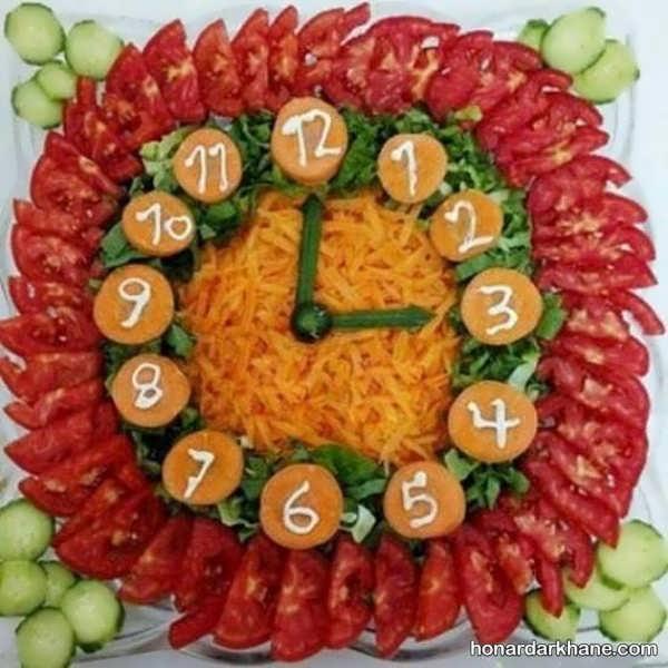 انواع تزیین سالاد با هویج به شکل های مختلف