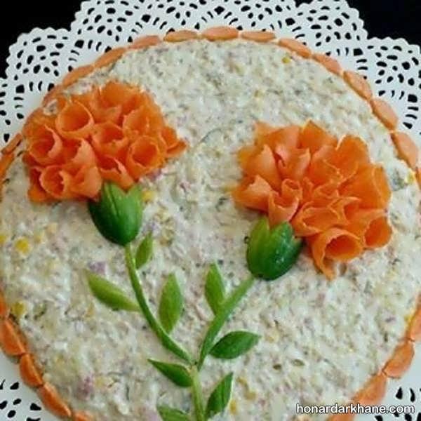 انواع دیزاین خلاقانه سالاد با هویج