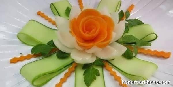 انواع دیزاین شیک سالاد مجلسی با هویج