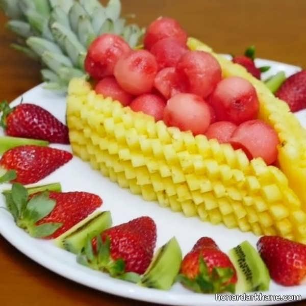 انواع چیدمان شیک و جدید میوه در بشقاب