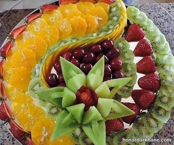 مدل های جدید میوه آرایی در بشقاب