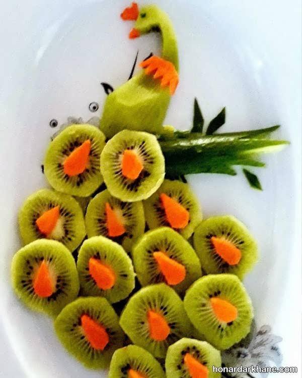 انواع تزیین جالب و جدید بشقاب میوه