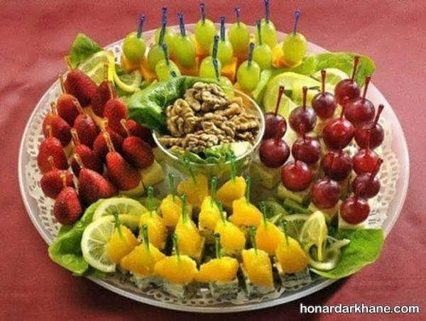 انواع دیزاین میوه در بشقاب با ایده های جالب