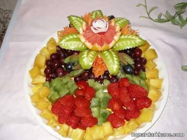 انواع چیدمان زیبا و خلاقانه میوه در بشقاب