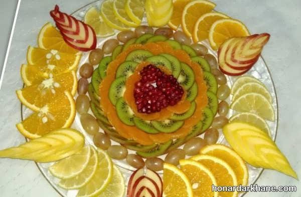 انواع مختلف چیدمان میوه در بشقاب
