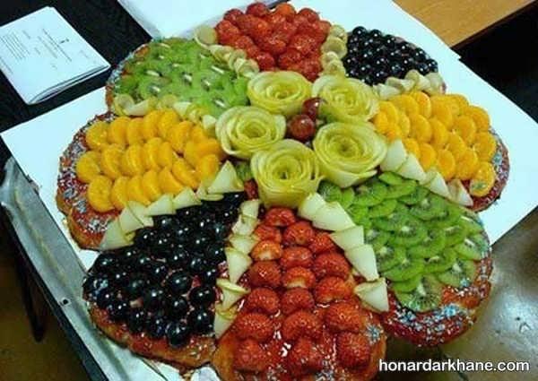 انواع چیدمان میوه در بشقاب به سبک های جدید