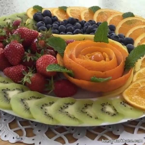 انواع مختلف تزیین بشقاب میوه