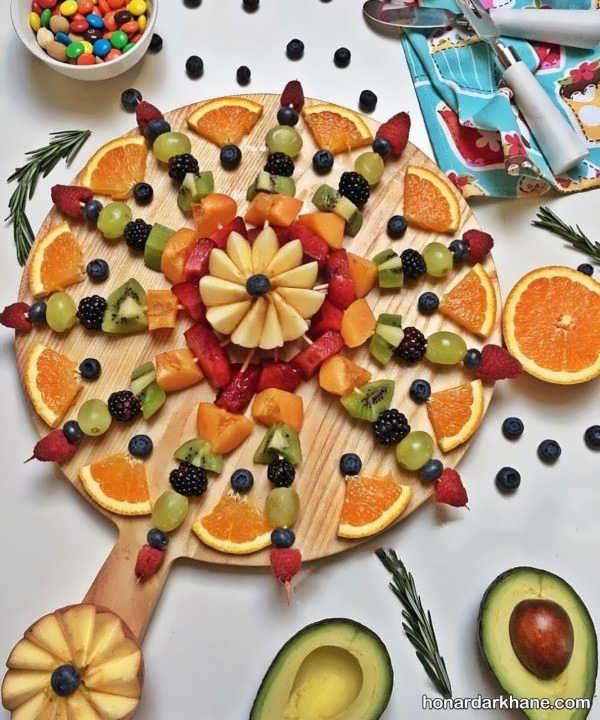 انواع تزیین بشقاب میوه به سبک های جدید