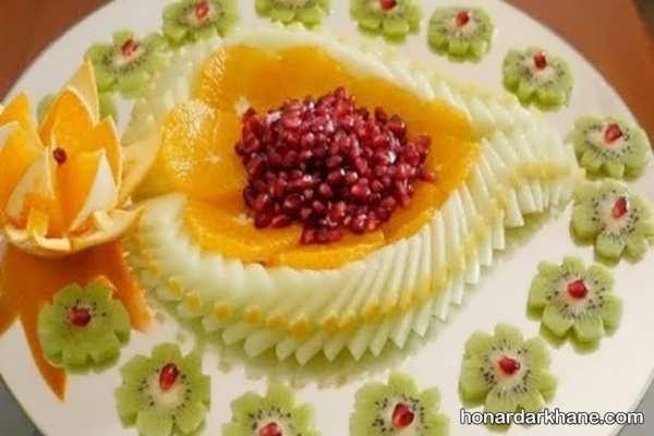انواع دیزاین بشقاب میوه با سبک های خلاقانه