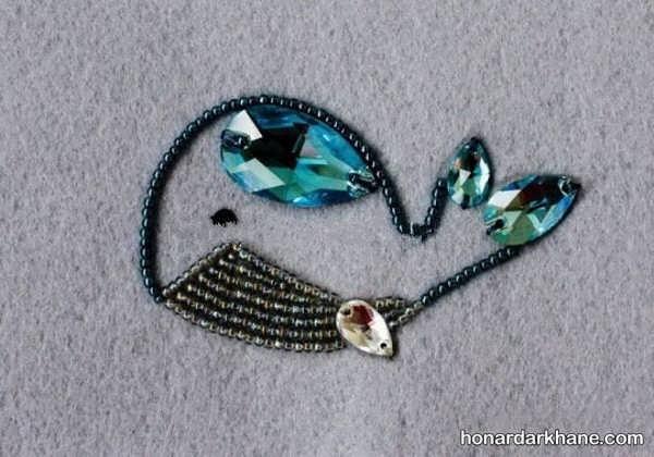 فراگیری جواهر دوزی بر روی انواع لباس