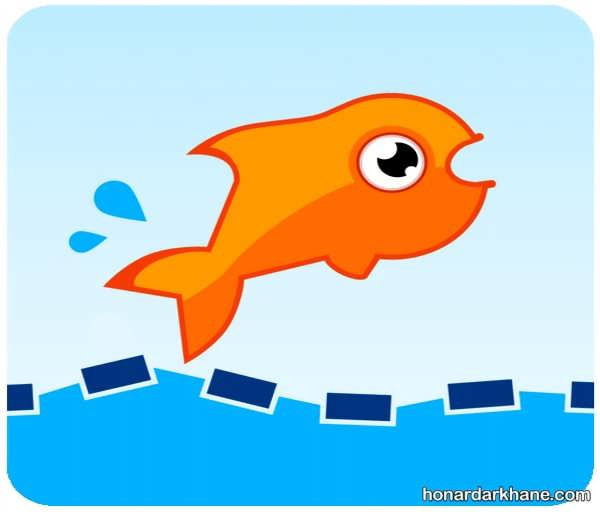 انواع رنگ آمیزی ماهی های بامزه و زیبا