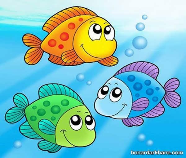 مدل های متنوع کشیدن و رنگ آمیزی ماهی