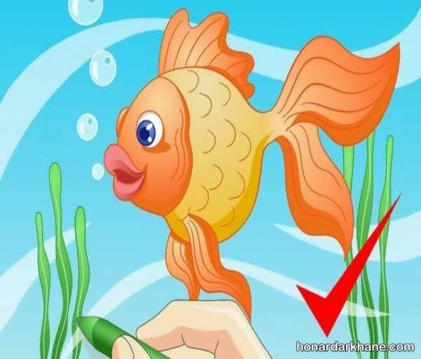 انواع طراحی کودکانه به شکل ماهی