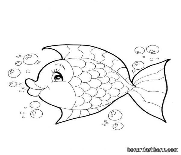 انواع مدل های مختلف نقاشی ماهی