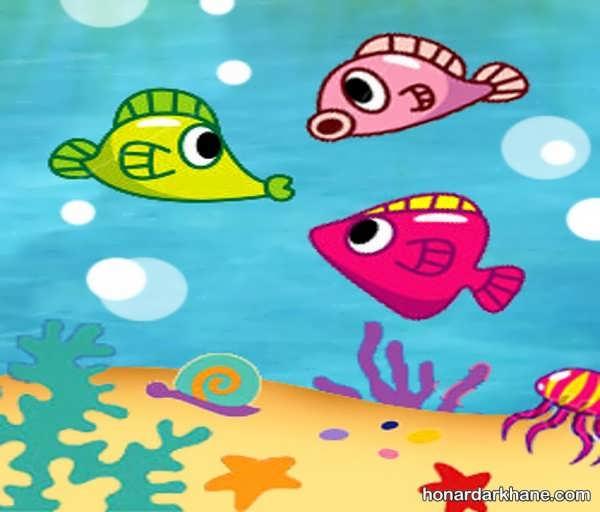 انواع طراحی ماهی فانتزی برای کودکان