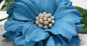 آموزش گلسازی با چرم به شیوه ای ساده