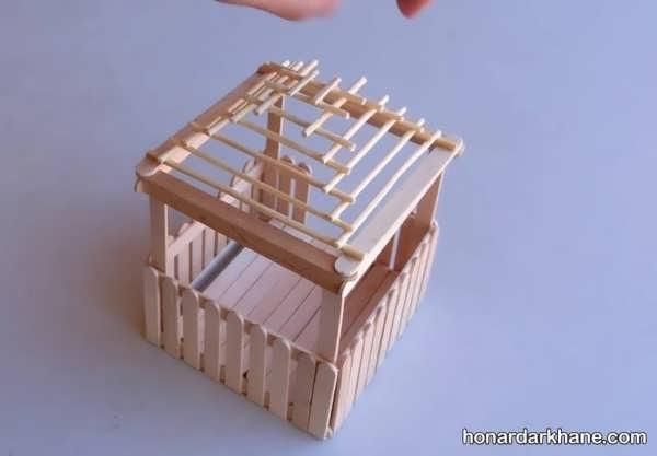 انواع هنردستی خلاقانه با سیخ چوبی