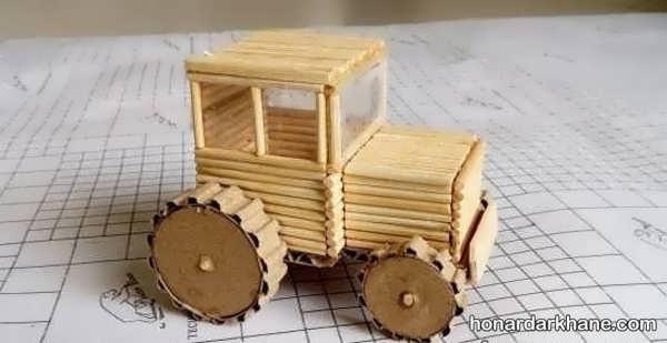 انواع هنردستی زیبا و جالب با سیخ چوبی