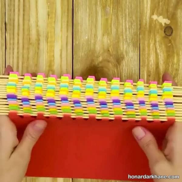 انواع کارهنری خلاقانه زیبا با سیخ چوبی