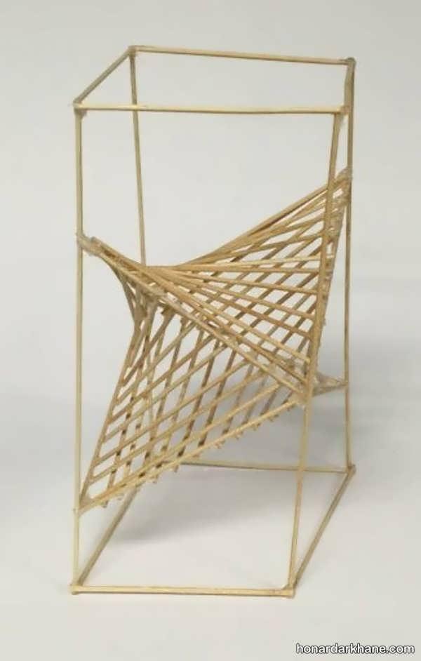 انواع کار هنری خلاقانه و زیبا با سیخ چوبی