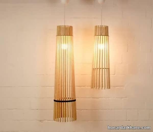 انواع هنردستی زیبا با سیخ چوبی