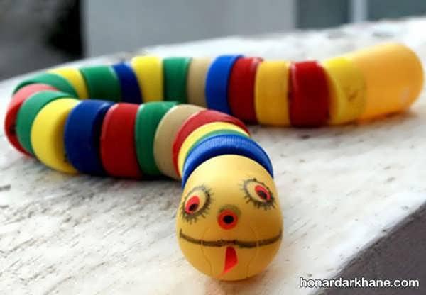 آموزش ساخت عروسک بامزه با وسایل دور ریختنی