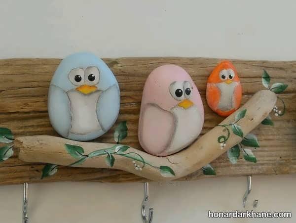 انواع هنرآفرینی جالب و خلاقانه با سنگ
