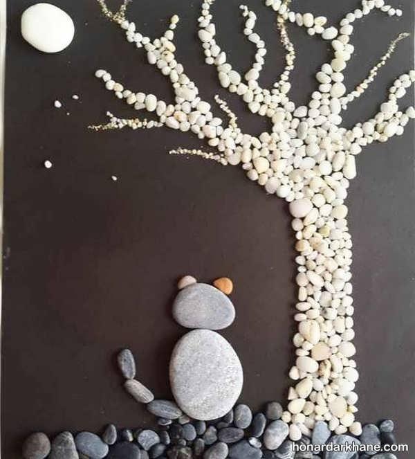 انواع کارهنری زیبا با سنگ
