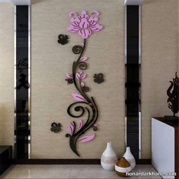 انواع آذین بندی دیوار با نمد به شکل های خلاقانه