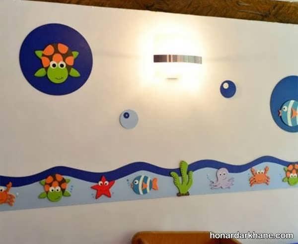 انواع آذین دیوار با نمد با زیباترین ایده ها