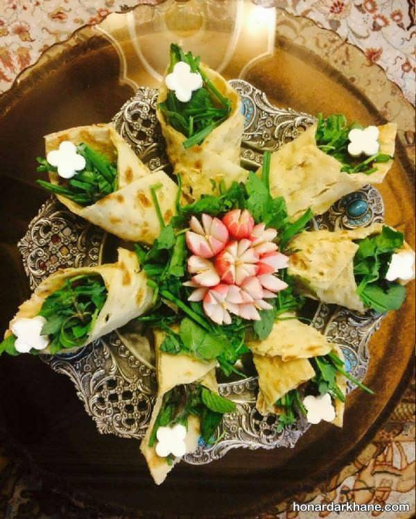 مدل های شیک و جذاب دیزاین نون پنیر سبزی