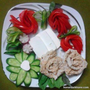 انواع دیزاین خاص و جذاب نون پنیر سبزی
